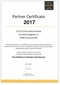SW certificato 2017